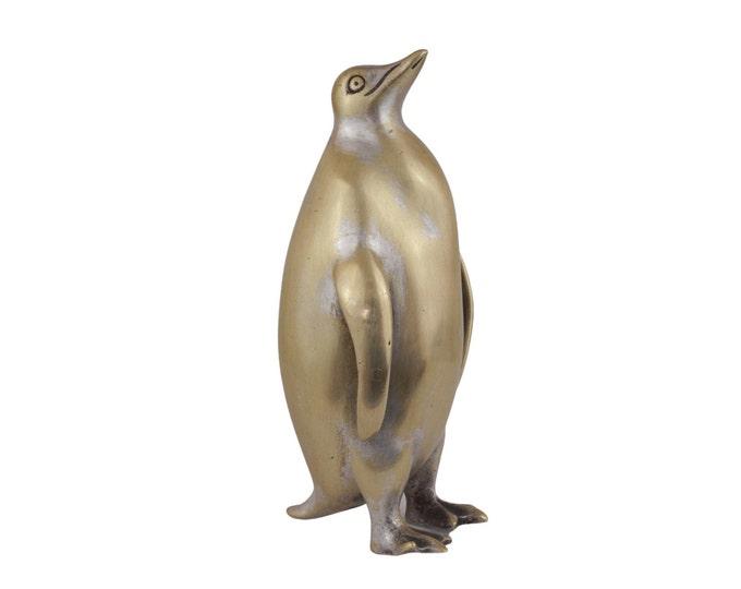 Antique Brass Emperor Penguin Figurine