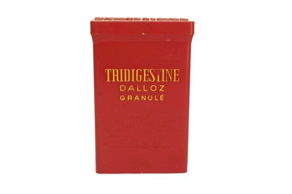 French Vintage Medicine Box, Tridigestine Medical Plastic Container, Pharmacy Collectible, Curiosity Cabinet