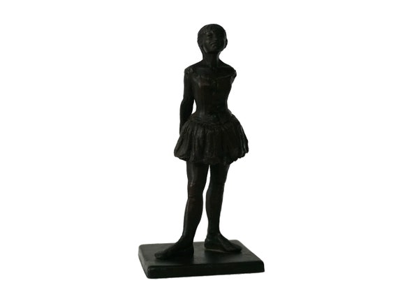 Bronze Degas Ballet Dancer Figurine, Reproduction Statuette