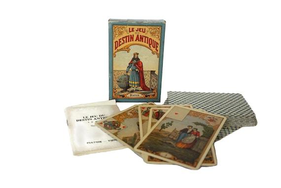 The Game of Antique Destiny Fortune Telling Cards by Piatnik, Vintage Tarot Deck