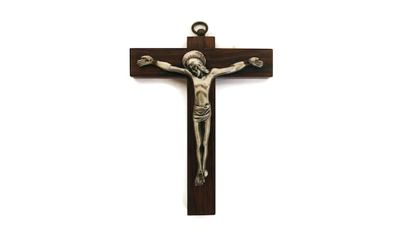 French Wooden Wall Hanging Crucifix
