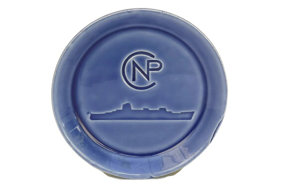 Shipping Company Advertising Coin Dish, Vintage French Ashtray, Paquet CNP Ocean Liner, Nautical Collectible