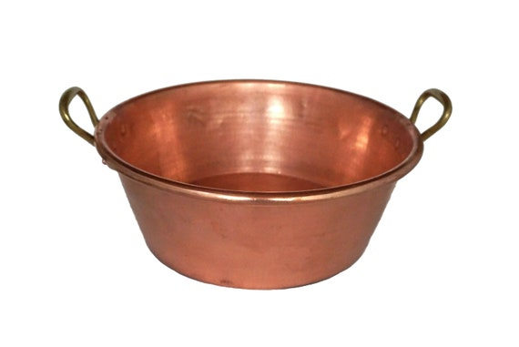 French Copper Preserve Pan, Vintage Jam Pot, Kitchen Decor and Cookware