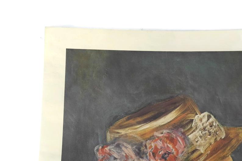 Original French Art Print Brigitte Bardot Portrait Lithograph by David Stein in the Style of Renoir