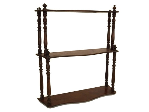 Antique Wood Wall Hanging Shelf