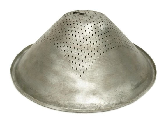Large Vintage Butchers Colander.