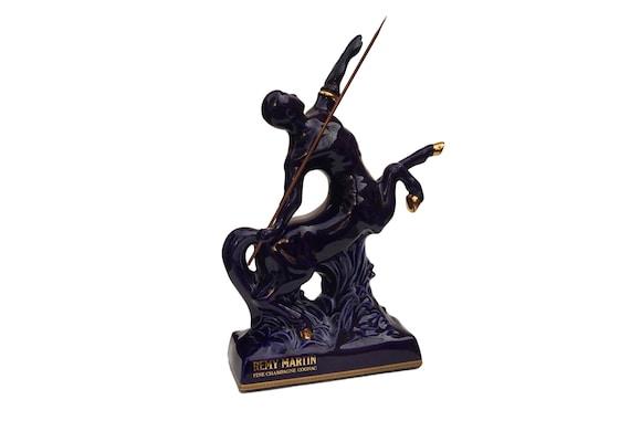 Remy Martin Centaur Cognac Decanter, Bernardaud Limoges French Porcelain Figure Bottle