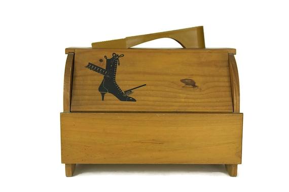 Vintage Shoe Grooming Wood Box