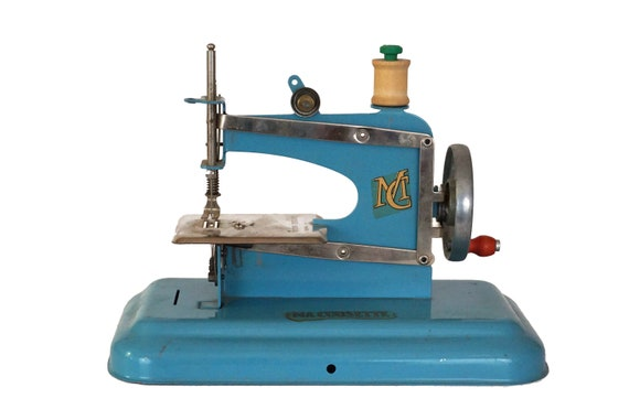 French Miniature Toy Sewing Machine by Ma Cousette, Craft Room Decor