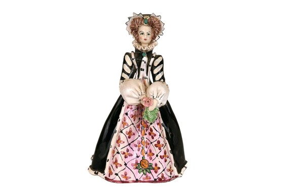 Catherine de Medici Ceramic statuette, Collectible Historical Queen Figurine