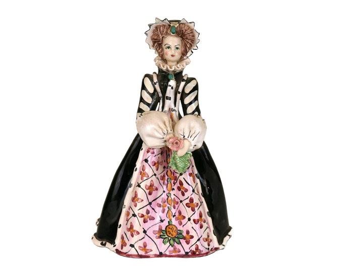 Catherine de Medici Ceramic statuette, Collectible Historical Queen Figurine