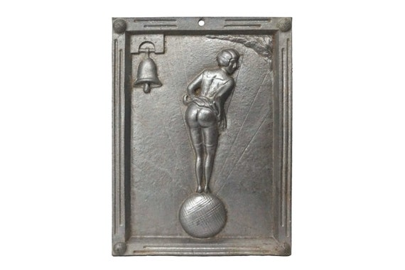 French Petanque Fanny Figurine Wall sign, Provencal Bowling Sports Souvenir