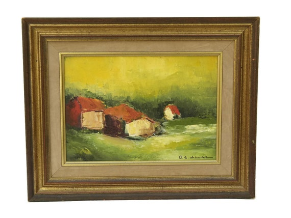 French Country Landscape Painting by Pierre Eugene Chauvet