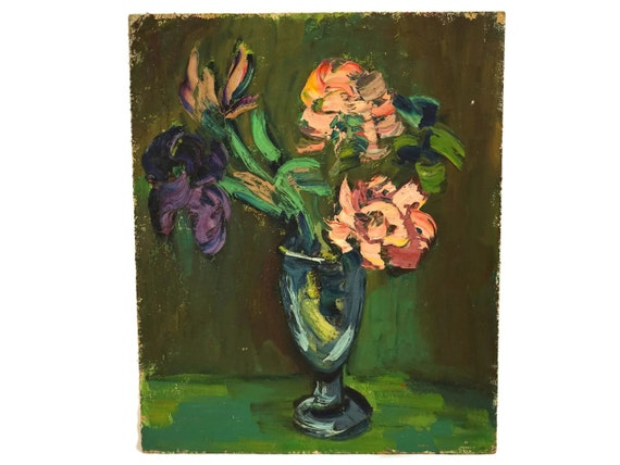 Flowers in Vase Oil Painting,