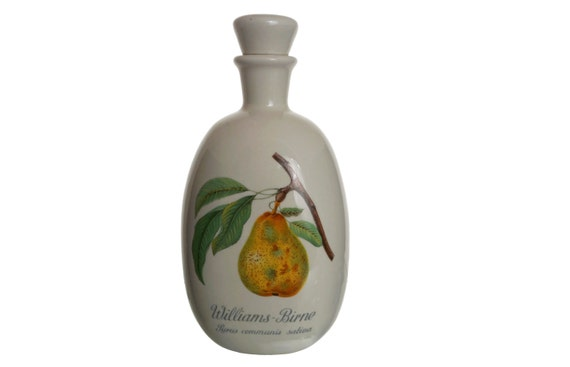 Pear Brandy Porcelain Decanter, Schladerer Williams Birne Ceramic Liquor Bottle