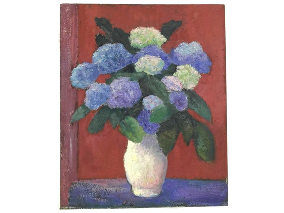 Hydrangea Bouquet Still Life Oil Painting