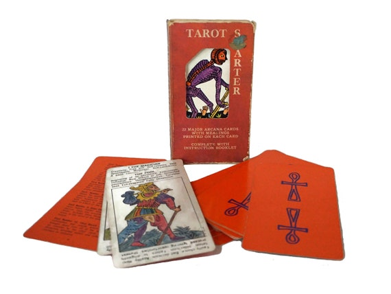Vintage Tarot Card Starter Deck by A G Muller, Fortune Telling and Divination Gifts