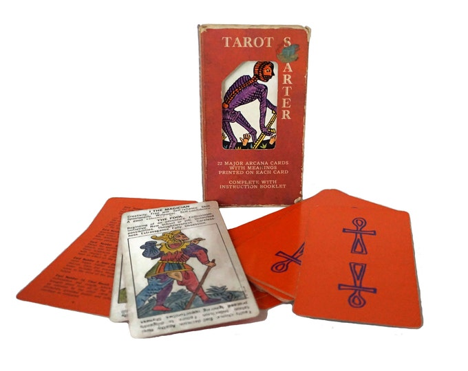Tarot Card Starter Deck by AG Muller, Vintage Fortune Telling and Divination Gifts