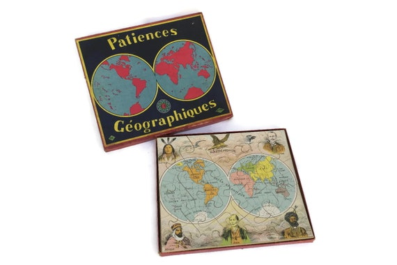 Patiences Geographiques Antique World Map Jigsaw Puzzle