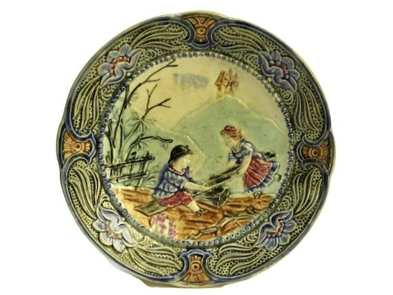 Antique Majolica Plate.