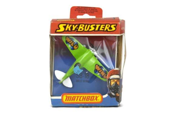 Metal Die Cast Model Airplane, Matchbox Sky-Busters SB-18 Wild Wind