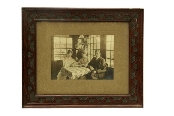 Edwardian Family Portrait Framed Photograph, Belle Epoque Fashion, Gibson Girl