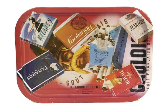 French Vintage Gauloise Advertising Bar Tray