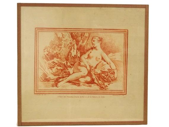 Antique Nude Woman Art Print