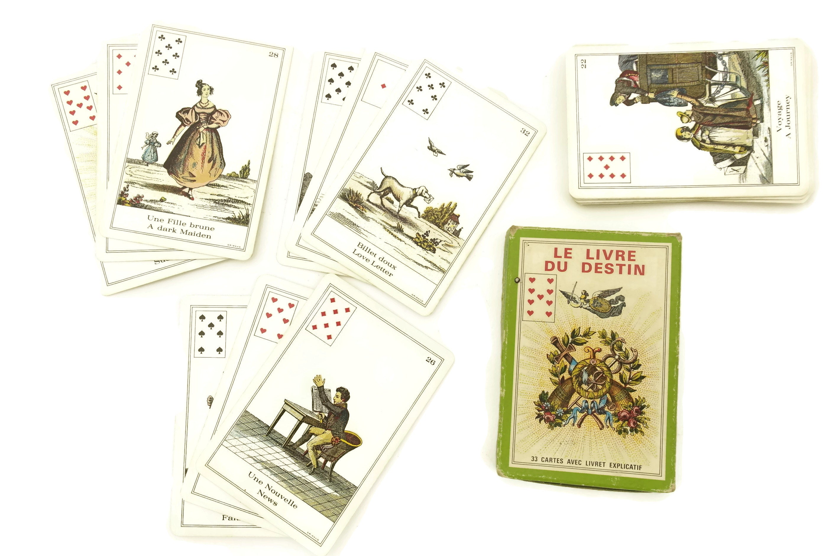 The Book of Destiny by B P  Grimaud  Game Tarot Cards Deck