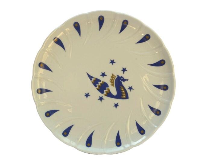 Concorde Air France Souvenir Plate, Collectible Limoges Porcelain Airlines Memorabilia, Pegasus Figure