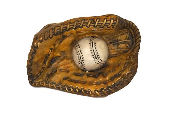 Baseball Catchers Mitt Ceramic Planter, Inarco Japan Vase, Sports Decor and Gift