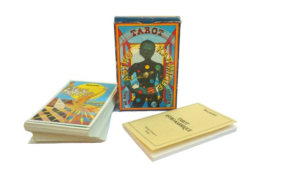 Vintage Tarot Cards Astro Karmique by Eric Jansen, Fortune Telling, Astrological and Divination Card Deck