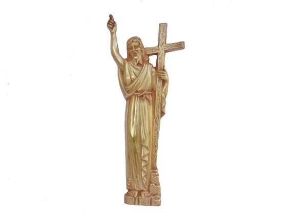 Antique Bronze Jesus Christ Figurine with Cross Wall Hanging Plaque by Coudere, French Religious Art, Christian Gift