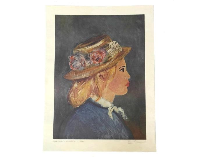 Brigitte Bardot Portrait Lithograph by David Stein in the Style of Renoir, Original French Art Print