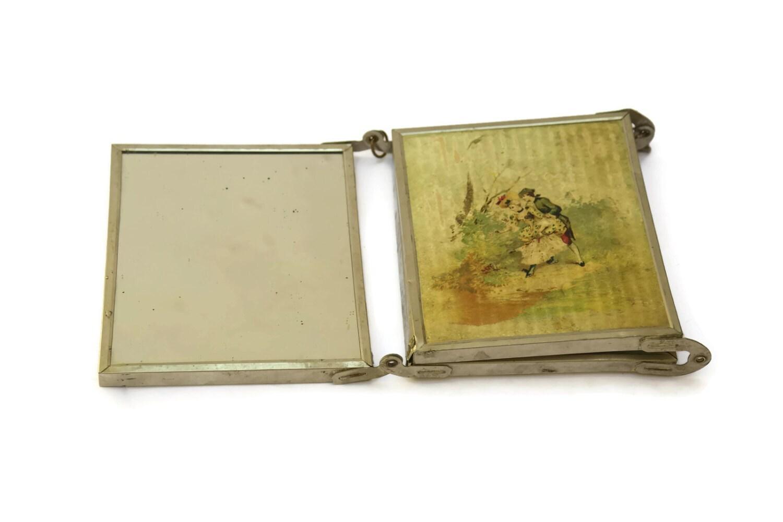 Folding Travel Mirror Antique Tri Fold Vanity Mirror