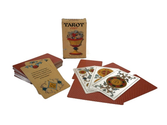 Vintage Tarot 1860 Deck by J Gaudais, Fortune Telling and Divination Gifts