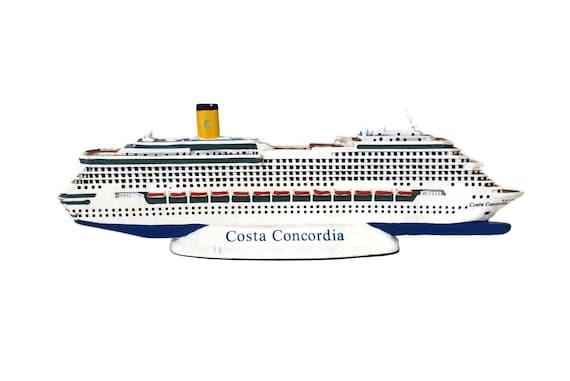 Cruise Ship Model of Costa Concordia, Miniate Ocean Liner, Nautical and Coastal Decor