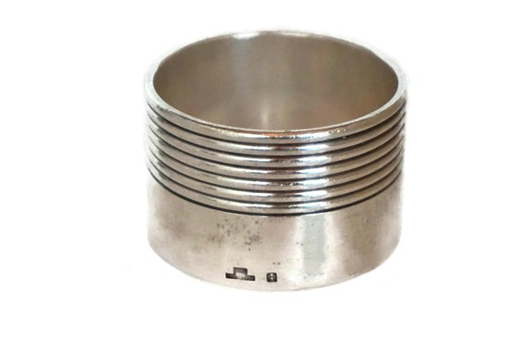 Vintage Christofle Silver Napkin Ring, French Serviette Holder
