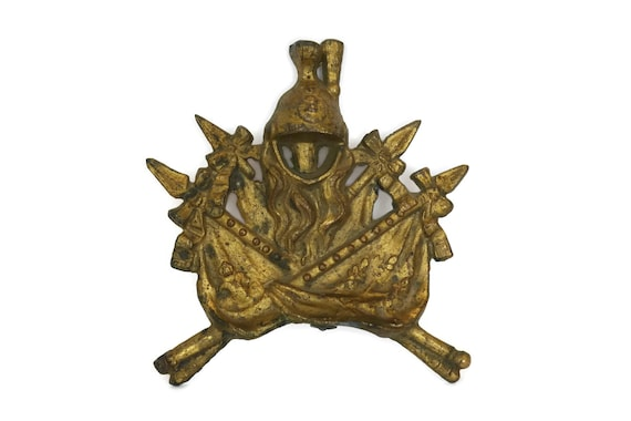 Antique Military Brass Ornament. French Napoleon Army Insignia. Soldier Gift for Him. Military Collectibles.