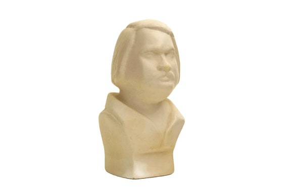 Vintage Balzac Portrait Bust, French Literature Lover Gift