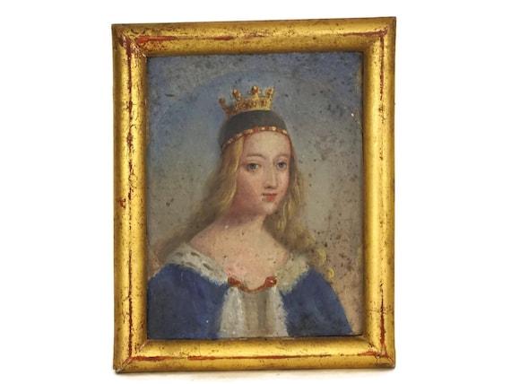 Antique Woman with Crown Portrait Oil Painting