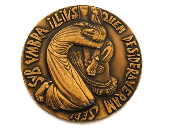 French Mary Magdalene Bronze Medal, Christian Gifts and Religious Decor