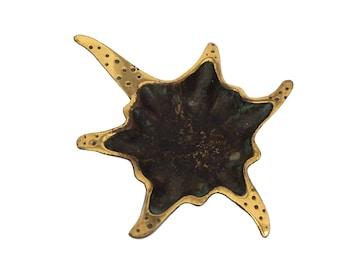 MCM Brass Starfish Coin Dish by Dayagi Israel, Mid Century Coastal Decor