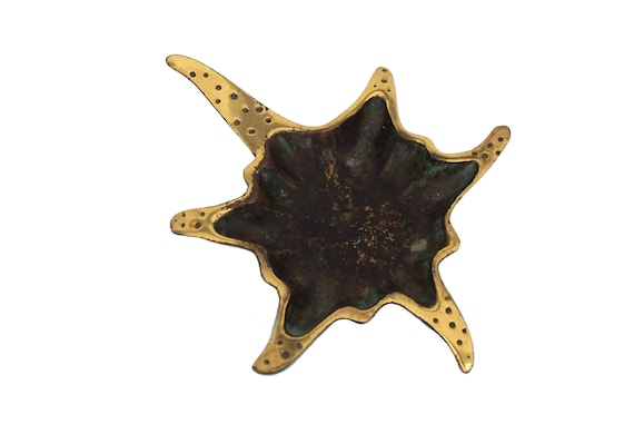 MCM Brass Starfish Coin Dish by Dayagi Israel, Mid Century Coastal Decor