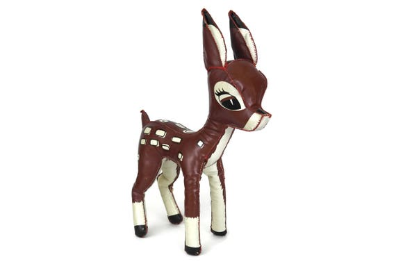 Vintage Bambi Soft Toy Doll, French Fawn Poupée Skine, 1960's Walt Disney Productions, Deer Figure