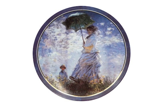 Claude Monet Woman with a Parasol Art Wall Plate by Goebel Artis Orbis, Collectible China