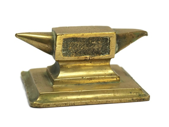 Antique Bronze Jeweler's Anvil. French Jewellery Maker's Miniature Anvil.