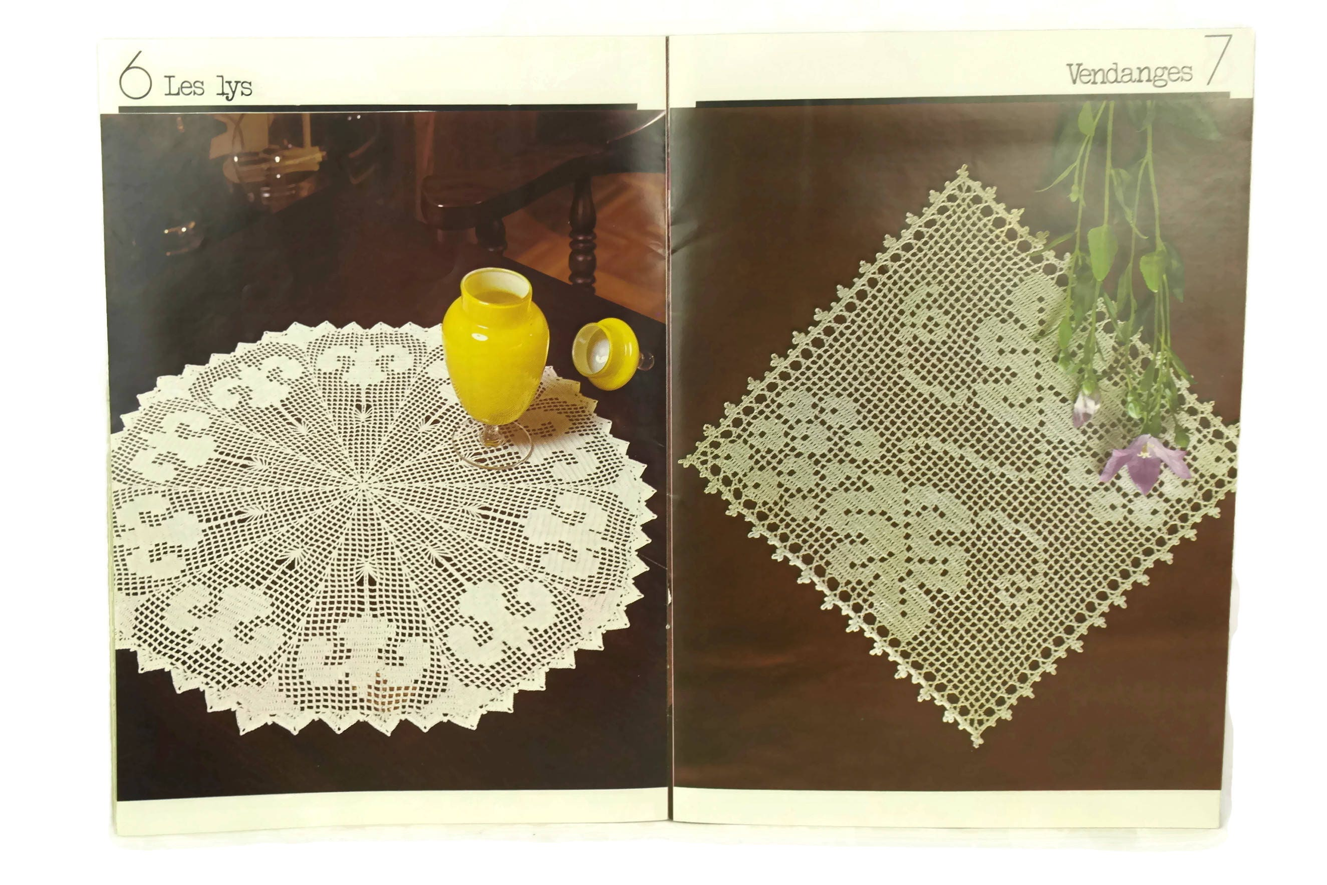 French Crochet Doily Pattern Tutorial Book. Learn to Crochet ,How To ...