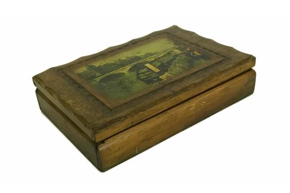 Paris Souvenir Wooden Candy Box