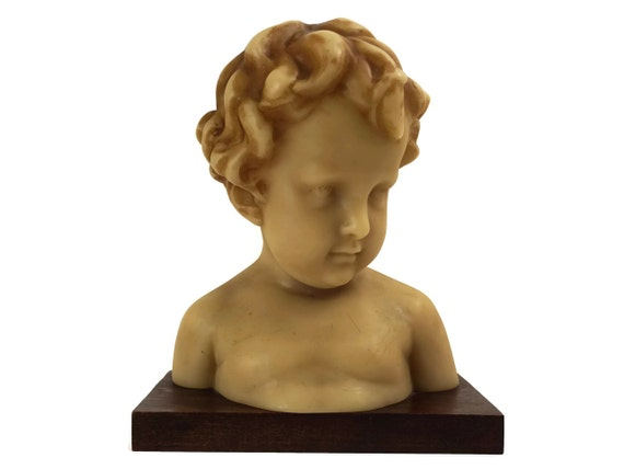 Child Portrait Wax Bust Statue